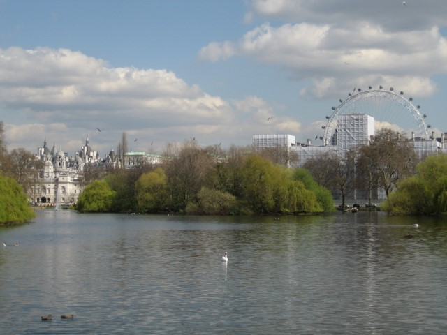 From the central bridge in St James Park