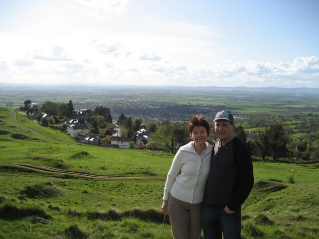 Mum and Dad on Cleeve Hill