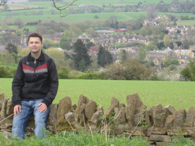 Me on Dovers Hill overlooking Chipping Campden