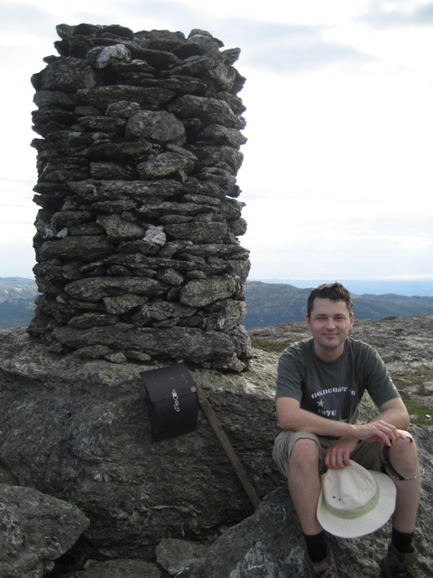 Resting near the cairn